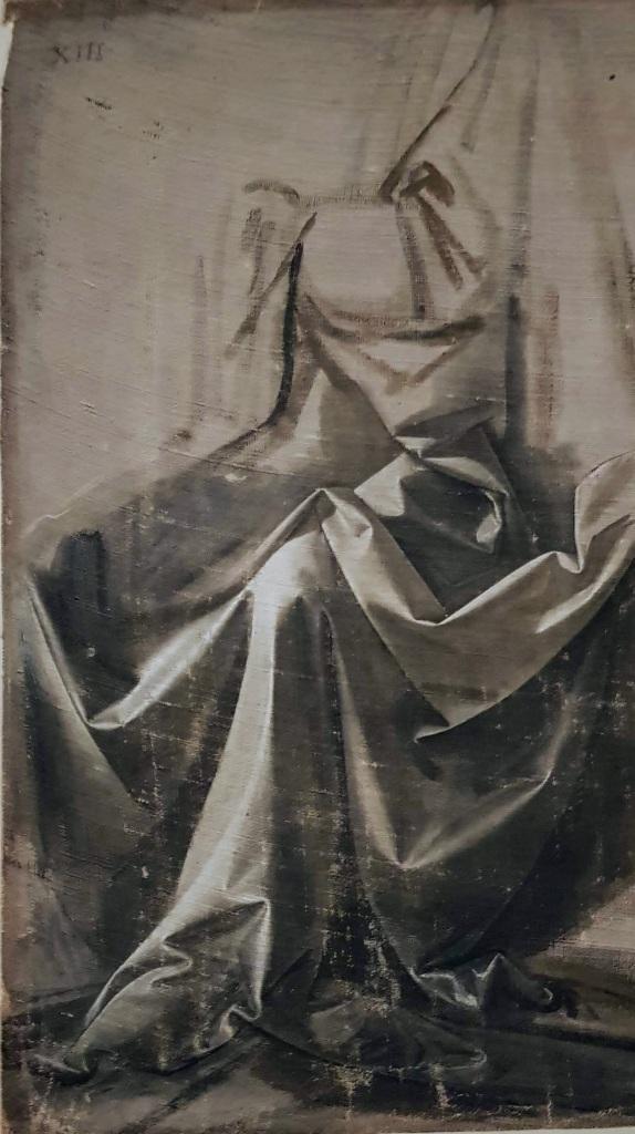 Léonard de Vinci. Drapé